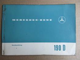 Manuel / Mode D'emploi Allemend / Mercedes 190 D - Manuels De Réparation