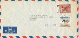 Gambia Air Mail Cover Sent To Denmark 6-2-1998 Topic Stamps - Gambia (1965-...)