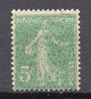 - FRANCE Variété N° 137 ** - 5 C. Vert Foncé Type Semeuse Camée 1907 - GOMME RECTO / VERSO - - Variétés Et Curiosités
