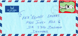 Gambia Air Mail Cover Sent To Denmark Bakau 10-10-2001 (single Disney Stamp Dalmatians) - Gambia (1965-...)