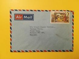 1978 BUSTA INTESTATA AIR MAIL MAURITIUS BOLLI HISTORICAL EVENTS   SENZA ANNULLO  STORIA POSTALE - Mauritius (1968-...)