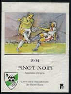 Etiquette De Vin // Pinot-Noir 1994 Football,  F.C. Yverdon Sports - Football