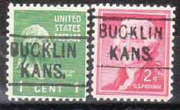 USA Precancel Vorausentwertung Preo, Locals Kansas, Bucklin 455, 2 Diff. - Vereinigte Staaten