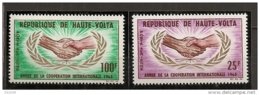 PA - 1965 - N°23 à 24**MNH - Année De La Coopération Internationale - Haute-Volta (1958-1984)