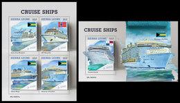 SIERRA LEONE 2019 - Cruise Ships. M/S + S/S Official Issue. - Sierra Leone (1961-...)