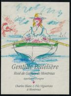 Etiquette De Vin // Rosé De Gamay, Gentille Batelière, Montreux, Vaud, Suisse - Etiquettes