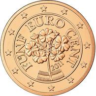 Autriche, 5 Euro Cent, 2011, FDC, Copper Plated Steel, KM:3084 - Autriche