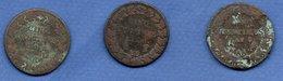 Constitution  -  Lot De 3 Monnaies - état  B - 1789-1795 Monnaies Constitutionnelles
