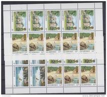 Guernsey 1985 Views 2 Booklet Panes ** Mnh (43356) - Guernsey