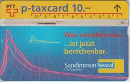 SUISSE - PHONE CARD - TAXCARD-PRIVÉE *** SANDOZ - PHARMA *** - Switzerland