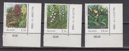 Aland 1989 Flowers 3v  (corners) ** Mnh (43357B) - Aland