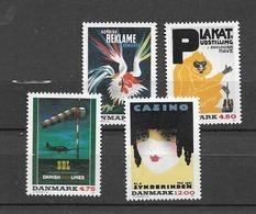 1991 MNH Danmark, Michel 1012-15 Postfris** - Danimarca