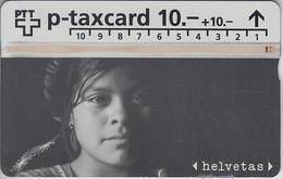 SUISSE - PHONE CARD - TAXCARD-PRIVÉE *** BIENFAISANCE & HELVETAS *** - Switzerland