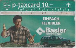 SUISSE - PHONE CARD - TAXCARD-PRIVÉE *** ASSURANCES & BASLER *** - Switzerland