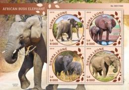 Sierra Leone   2016  Fauna  African Bush Elephant - Sierra Leone (1961-...)
