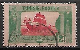 TUNISIE    -    1923 .  Y&T N° 108 Oblitéré  .   Bateau  /  Galère - Tunisie (1888-1955)