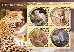 Sierra Leone   2016  Fauna  African Leopard - Sierra Leone (1961-...)