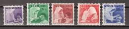 Nederlands Indie Dutch Indies 241-245 MLH ; Missie, Mission 1938 NETHERLANDS INDIES PER PIECE - Nederlands-Indië