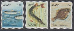 Aland 1990 Fishes 3v ** Mnh (43357C) - Aland