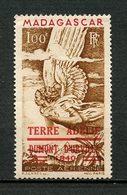 TAAF 1948 PA  N° 1 **  Neuf  MNH C 55 € TB Trace De Pli Central Aérien De Madagascar Faune Oiseaux Birds - Poste Aérienne