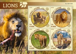 Sierra Leone   2016  Fauna  Lions - Sierra Leone (1961-...)