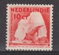 Nederlands Indie Dutch Indies 244 MLH ; Missie, Mission 1938 NETHERLANDS INDIES PER PIECE - Niederländisch-Indien