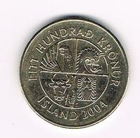 //   IJSLAND  100 KRONUR 2004 - Islande