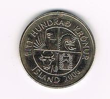 //   IJSLAND  100 KRONUR 2006 - Islandia