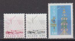 Aland 1985 Definitives 3v ** Mnh (43357F) - Aland
