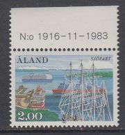 Aland 1984 Shipping 1v (+margin) ** Mnh (43357G) - Aland