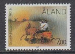 Aland 1987 100J. Feuerwehr Auf Aland 1v ** Mnh (43357H) - Aland