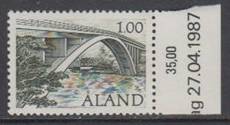 Aland 1987 Bridge 1v ** Mnh (43357I) - Aland
