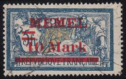 Memel 38aI Aufdruck 10 Mark Auf 5 Fr, Gestempelt Geprüft - Memelgebiet