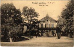 CPA AK Mondorf-les-Bains Entrée Du Parc. LUXEMBURG (803950) - Bad Mondorf
