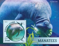 Sierra Leone   2016  Fauna  Manatees - Sierra Leone (1961-...)