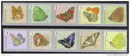 OCB Nr 4452/61 Fauna Butterfly Papillon Vlinder COMPLETE SET MNH !!! Meersman Rol Rouleau - Nuevos