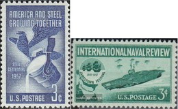 U.S. 712,713 (complete Issue) Unmounted Mint / Never Hinged 1957 Steel Industry, Flottenschau - United States