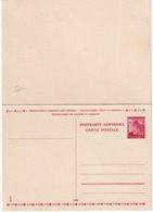 BOHEME ET MORAVIE    ENTIER POSTAL/GANZSACHE/POSTAL STATIONERY  CARTE AVEC REPONSE - Bohême & Moravie