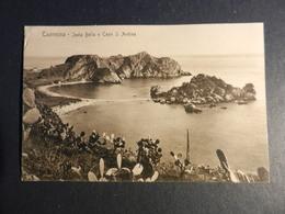 19950) TAORMINA ISOLA BELLA E CAPO S. ANDREA NON VIAGGIATA 1910 CIRCA - Messina