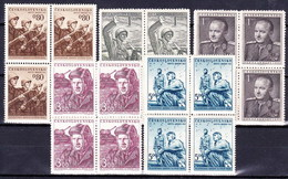 ** Tchécoslovaquie 1951 Mi 691-5 (Yv 600-4), (MNH) - Tschechoslowakei/CSSR
