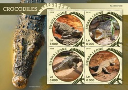 Sierra Leone   2016  Fauna  Crocodiles - Sierra Leone (1961-...)