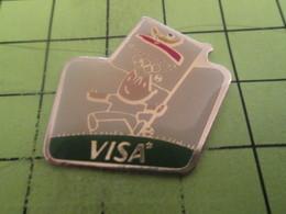 513k Pin's Pins / Beau Et Rare / THEME : JEUX OLYMPIQUES / CARTE VISA JEUX  BARCELONE 1992 MASCOTTE - Olympic Games