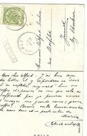 N°83 Càd Hasselt 1910+GFF EELEN Encadrée Jumet - Marcophilie