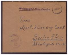 Dt- Reich (008424) Feldpostbrief, Gelaufen Als Wehrmacht- Dienstsachte Mit Tarnstempel Am 24.10.1942 - Deutschland