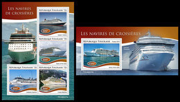 TOGO 2019 - Cruise Ships, M/S + S/S. Official Issue - Togo (1960-...)