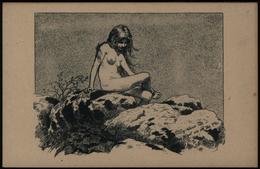 Ansichtskarte Tolle Künstler - Karte Fidus Sag Kleines Tier Eidechse Erotik  - Künstlerkarten