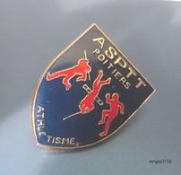 Pin's  ASPTT - Poitiers / Athlétisme  - MJ  Diffusion - Athlétisme
