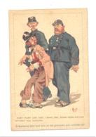 """FANTAISIE - Illustrateur """" Mich"""" Clochard, Ivrogne Et Policiers , Police, Policier,...(po1) - Mich"""