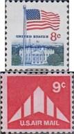U.S. 1033A,1035 (complete Issue) Unmounted Mint / Never Hinged 1971 Flag, Delta-Tragflächen - Estados Unidos