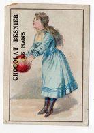 """Chromo - LE MANS -- """"Chocolat Besnier """"--fillette Et Ballon ......à Saisir - Chocolat"""